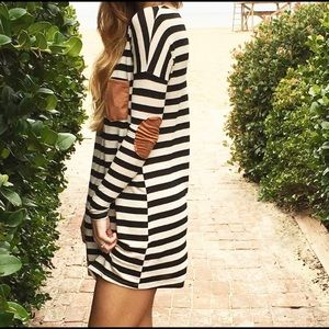 Dresses & Skirts - Striped dress with suede details!